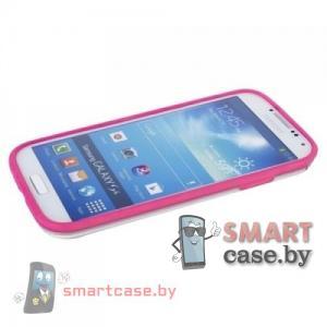 Бампер для Samsung Galaxy S4 Griffin силикон+пластик (розовый)