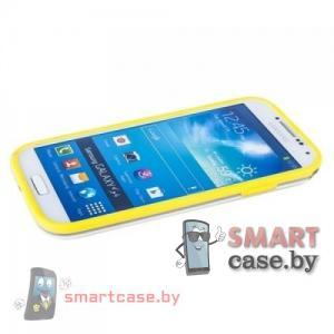 Бампер для Samsung Galaxy S4 Griffin силикон+пластик (желтый)