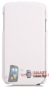 Чехол-книжка кожаный NUOKU Royal для Samsung Galaxy S4 + пленка (белый)