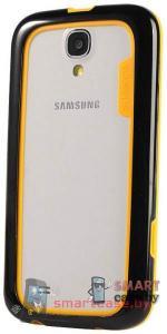 Бампер для Samsung Galaxy S4 Baseus силикон+пластик (желтый+черный)