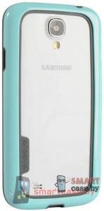 Бампер для Samsung Galaxy S4 Baseus силикон+пластик (бирюза+серый)