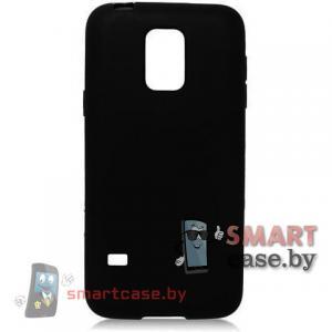 Силиконовый чехол для Samsung Galaxy S5 mini ультратонкий 0,5мм (черный)
