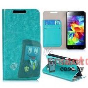 Чехол-книжка для Samsung Galaxy S5 mini Crystal Grain (Бирюзовый)