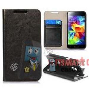Чехол-книжка для Samsung Galaxy S5 mini Crystal Grain (Черный)