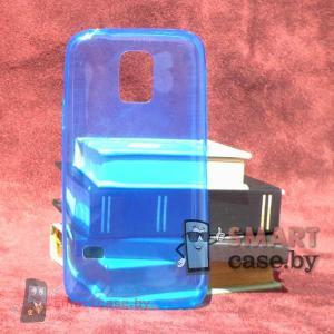 Силиконовый чехол для Samsung Galaxy S5 mini ультратонкий 0,5мм (голубой)