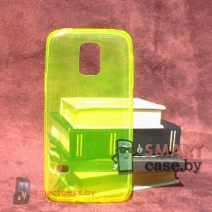 Силиконовый чехол для Samsung Galaxy S5 mini ультратонкий 0,5мм (желтый)