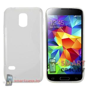 Чехол для Samsung Galaxy S5 mini силиконовый (прозрачный)