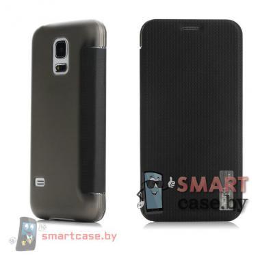 Чехол флип для Samsung Galaxy S5 mini супертонкий Rock (черный)