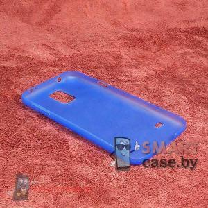 Чехол для Samsung Galaxy S5 ультратонкий, полупрозрачный (синий)