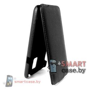 Чехол флип для Samsung Galaxy S5 кожаный iCon Style (черный)