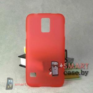 Силиконовый чехол для Samsung Galaxy S5 матовый (красный)