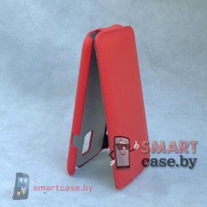 Чехол флип для Samsung Galaxy S5 кожаный iCon Style (красный)