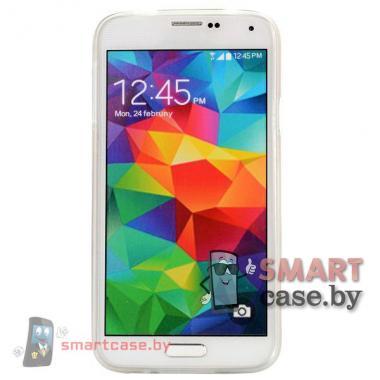 Силиконовый чехол для Samsung Galaxy S5 Crazy Punk  (Брюнетка)