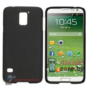 Ультратонкий чехол для Samsung Galaxy S5 пластик софт тач (черный)
