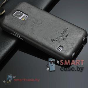 Чехол-блокнот Oil Wax для Samsung Galaxy S5(черный)