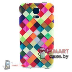 Силиконовый чехол для Samsung Galaxy S5 (Яркая клетка)