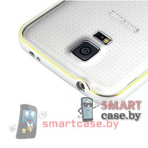 Алюминиевый бампер для Samsung Galaxy S5 (Серебро с золотом)