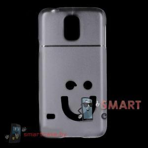 Кейс пластиковый для Samsung Galaxy S5 ультратонкий (матовый прозрачный)