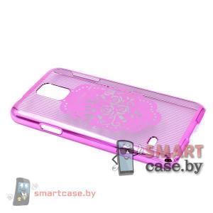 Гламурная накладка для Samsung Galaxy S5 пластиковая (Розы)