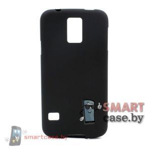 Силиконовый чехол для Samsung Galaxy S5 матовый (Черный)