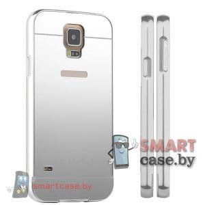 Кейс для Samsung Galaxy S5 алюминий+оргстекло (Металик)