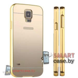 Кейс для Samsung Galaxy S5 алюминий+оргстекло (Золото)