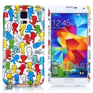 Чехол накладка для Samsung Galaxy S5 ультра тонкий (человечки)