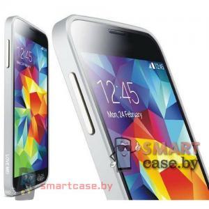 Бампер для Samsung Galaxy S5 алюминиевый Love Mei (серебро)