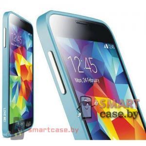 Бампер для Samsung Galaxy S5 алюминиевый Love Mei (бэбиблю)