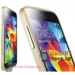 Бампер для Samsung Galaxy S5 алюминиевый Love Mei (золотой)