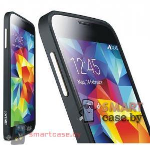 Бампер для Samsung Galaxy S5 алюминиевый Love Mei (черный)