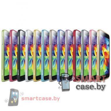 Бампер для Samsung Galaxy S5 алюминиевый Love Mei (синий)