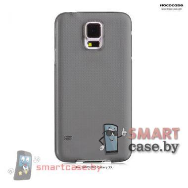 Чехол накладка для Samsung Galaxy S5 ультра тонкий HOCO (прозрачный черный)