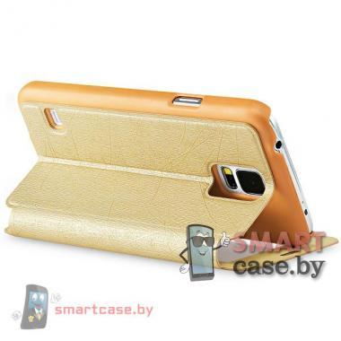 Чехол с окном для Samsung Galaxy S5 TakeFans (золотой)