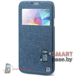 Чехол с окном для Samsung Galaxy S5 TakeFans (темно-синий)