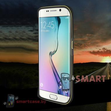 Бампер для Samsung Galaxy S6 Edge алюминиевый Love Mei (черный)
