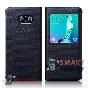 Оригинальный чехол для Samsung Galaxy S6 Edge S View (Черный)