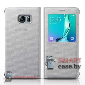 Оригинальный чехол для Samsung Galaxy S6 Edge S View (Серебро)