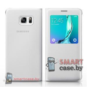 Оригинальный чехол для Samsung Galaxy S6 Edge S View (Белый)