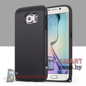 Чехол-накладка для Samsung Galaxy S6 от USAMS силикон + пластик (черный)