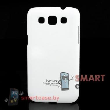 Чехол накладка для Samsung Galaxy Win Duos пластиковый SGP (белый)