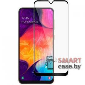 Защитное стекло для Samsung Galaxy A10 9H, 9D на весь экран (Чёрное)