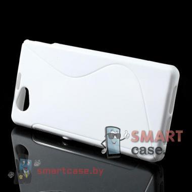 Чехол для Sony Xperia Z1 compact силиконовый S-shape (белый)