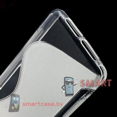 Чехол для Sony Xperia Z1 compact силиконовый S-shape (прозрачный)