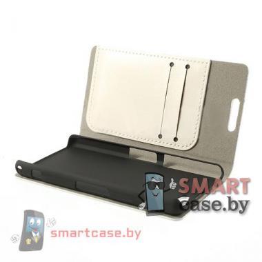 Чехол для Sony Xperia Z1 compact кожаный Crazy Horse (белый)