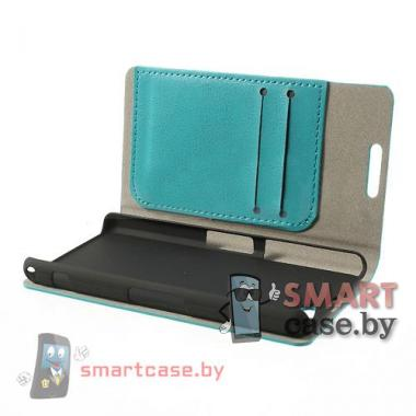Чехол для Sony Xperia Z1 compact кожаный Crazy Horse (бэбиблю)