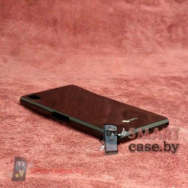Бампер супертонкий силиконовый от Sipo для Sony Xperia Z2 + пленка (черный)