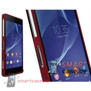 Бампер для Sony Xperia Z2 алюминиевый Love Mei (красный)