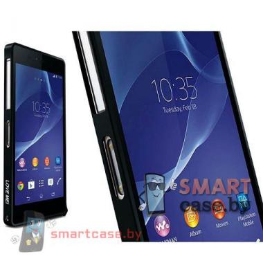 Бампер для Sony Xperia Z2 алюминиевый Love Mei (черный)