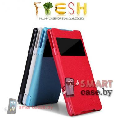 Чехол для Sony Xperia Z2 кожаный Nillkin (бэбиблю)
